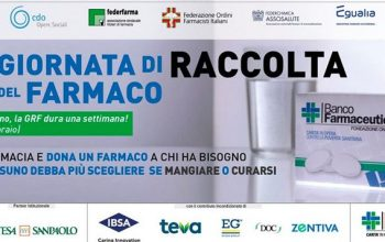 BANCO FARMACEUTICO CERCA VOLONTARI PER LA GIORNATA DI RACCOLTA DEL FARMACO 2021